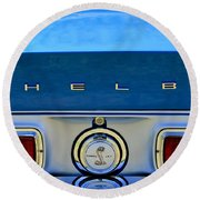 1968 Ford Shelby Gt500 Kr Convertible Rear Emblems Round Beach Towel
