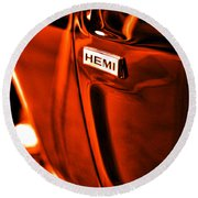 1968 Hemi Dodge Charger Round Beach Towel