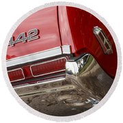 1968 Oldsmobile 442 Round Beach Towel