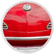 1968 Volkswagen Karmann Ghia Convertible Hood Emblem Round Beach Towel