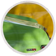 1969 Amc Javelin Sst Taillight Emblem Round Beach Towel