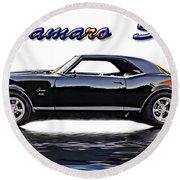 1969 Camaro Ss Round Beach Towel
