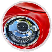 1969 Charger Fuel Cap Round Beach Towel