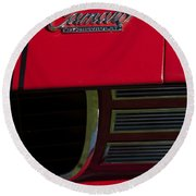 1969 Chevrolet Camaro Rally Sport Emblem Round Beach Towel