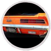 1969 Chevrolet Camaro Rs - Orange - Rear End - 7609 Round Beach Towel