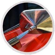 1969 Chevrolet Camaro Rs - Orange - Side Mirror - 7588 Round Beach Towel