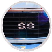 1969 Chevrolet Camaro Rs-ss Indy Pace Car Replica Grille Emblem Round Beach Towel