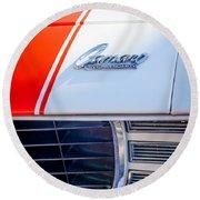 1969 Chevrolet Camaro Rs-ss Indy Pace Car Replica Hood Emblem Round Beach Towel