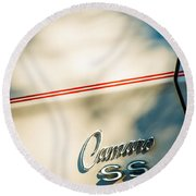 1969 Chevrolet Camaro Rs-ss Indy Pace Car Replica Side Emblem Round Beach Towel