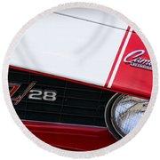 1969 Chevrolet Camaro Z28 Round Beach Towel