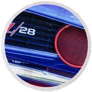 1969 Chevrolet Camaro Z28 Grille Emblem Round Beach Towel
