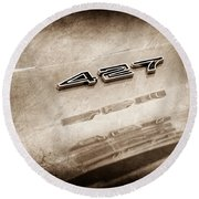 1969 Chevrolet Corvette 427 Emblem Round Beach Towel