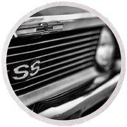 1969 Chevy Nova Ss  Round Beach Towel