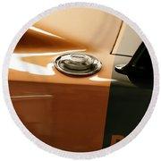 1969 Dodge Charger Daytona - Fuel Day Round Beach Towel