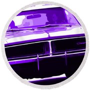 1969 Dodge Charger Round Beach Towel