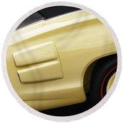 1969 Dodge Coronet R/t Convertible Round Beach Towel