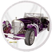 1969 Excalibur Ss Roadster Round Beach Towel