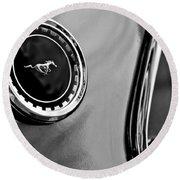 1969 Ford Mustang Mach 1 Side Emblem Round Beach Towel by Jill Reger