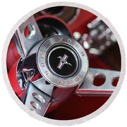 1969 Ford Mustang Mach 1 Steering Wheel Round Beach Towel