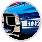 1969 Ford Mustang Shelby Gt350 Grille Emblem Round Beach Towel