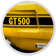 1969 Ford Shelby Mustang Gt500 Round Beach Towel