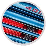 1969 Pontiac 400 Firebird Convertible Taillight Emblem -0029c Round Beach Towel