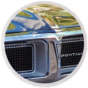 1969 Pontiac Firebird 400 Grille Round Beach Towel