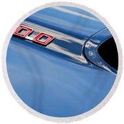 1969 Pontiac Firebird 400 Hood Round Beach Towel