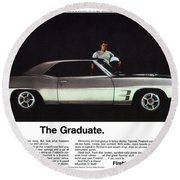1969 Pontiac Firebird 400 - The Graduate Round Beach Towel