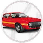 1969 Shelby Cobra Gt 500 Retro Sports Car Round Beach Towel