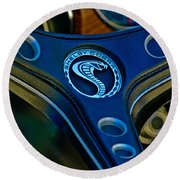 1969 Shelby Gt500 Convertible 428 Cobra Jet Steering Wheel Emblem Round Beach Towel