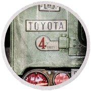 1969 Toyota Fj-40 Land Cruiser Taillight Emblem -0417ac Round Beach Towel
