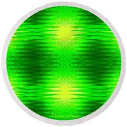 197 - Deco Green 2 Round Beach Towel