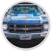 1970 Chevy Chevelle 454 Ss   Round Beach Towel