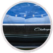 1970 Dodge Challenger Rt Convertible Grille Emblem -0545c Round Beach Towel