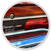 1970 Dodge Charger 500  Round Beach Towel