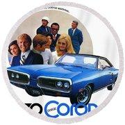 1970 Dodge Coronet 500 Round Beach Towel