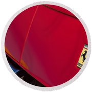 1971970 Ferrari 365 Gtb-4 Daytona Berlinetta Hood0  Ferrari 365 Gtb-4 Daytona Berlinetta Hood Emblem Round Beach Towel