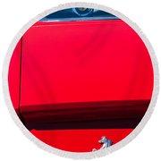 1970 Ferrari 365 Gtb-4 Daytona Berlinetta Taillight Emblem -1482c Round Beach Towel