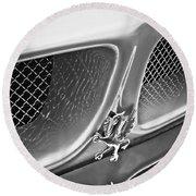 1970 Iso Rivolta Grifo Emblem  -0146bw Round Beach Towel