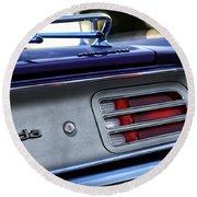 1970 Plum Crazy Purple Plymouth 'cuda Round Beach Towel