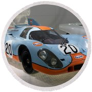 1970 Porsche 917 Kh Coupe Round Beach Towel
