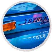 1970 Toyota Land Cruiser Fj40 Hardtop Emblem Round Beach Towel