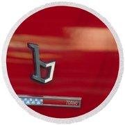 1971 Alfa Romeo Montreal Emblem Round Beach Towel