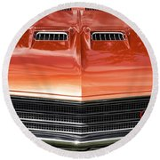 1971 Buick Gs Sport Coupe Round Beach Towel