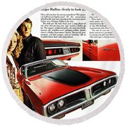 1971 Dodge Charger Rallye Round Beach Towel