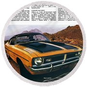 1971 Dodge Demon 340 Round Beach Towel