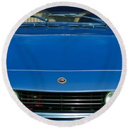1971 Fiat Dino 2.4 Grille Round Beach Towel by Jill Reger