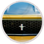 1971 Ford Mustang Mach 1 Front End Round Beach Towel