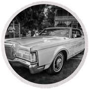 1971 Lincoln Continental Mark IIi Painted Bw   Round Beach Towel